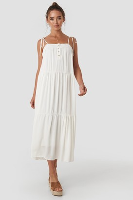 Trendyol Carmen Strap Midi Dress White