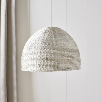 The White Company Mawes Ceiling Shade, White Natural, One Size