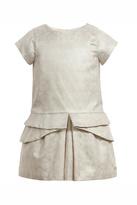 Lili Gaufrette Gold Print Geometric Dress