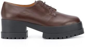 Clergerie Two-Tone Platform Lace-Up Shoes
