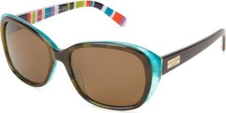 Kate Spade Hilde/P/S Hilde/P/S Polarized Cat Eye Sunglasses Olive/Tortoise/Turquoise 54 mm