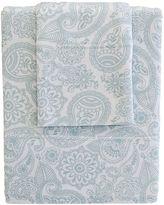 Living Textiles Paisley 3-Piece Cot Jersey Sheet Set, Blue Replica