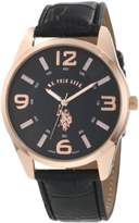 U.S. Polo Assn. Classic Men's USC50076 Rose Gold-Tone and Black Strap Watch
