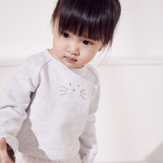 The White Company Bunny-Face Sweatshirt, Ecru, 12-18mths