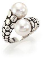 John Hardy Dot 11MM White Pearl & Sterling Silver Toi-Et-Moi Ring