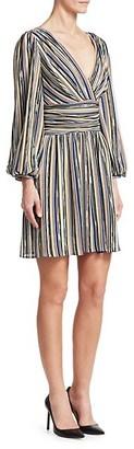 Missoni Stripe Long-Sleeve A-Line Dress