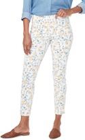 NYDJ Floral Ankle Slit Crop Skinny Jeans