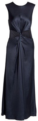 AMUR Inara Knot Cutout Midi Dress