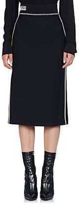 Fendi Women's Logo-Detailed Wool-Silk Pencil Skirt - White