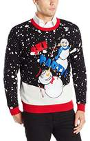 Blizzard Bay Men's Snowman Ski Party Ugly Christmas Sweater