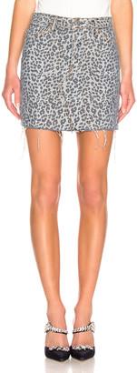 GRLFRND Blaire Mini Pencil Skirt in Wild Cat | FWRD
