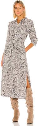 1 STATE Patch Pocket Snake Print Maxi Dress