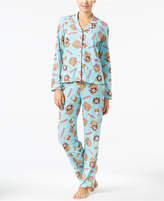 Jenni by Jennifer Moore Printed Knit Pajama Set, Only at Macy's