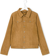 Dondup Kids buttoned leather jacket