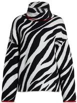 Rag & Bone Kiki Zebra-Print Funnel-Neck Sweater