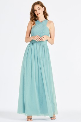 Little Mistress Outlet Lais Sage Tie Back Maxi Dress