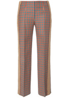 Agnona Checkered Straight Leg Trousers