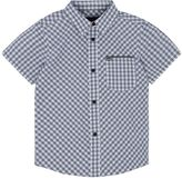 Hurley Boys 4-7 Athletic Short Sleeve Woven Checkered Plaid Shirt