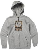 Burton Boys' Logo Fill Full-Zip Hoodie (Big Kids) (Heather Grey) - Apparel