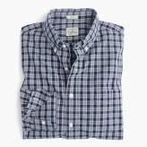 J.Crew Slim Secret Wash shirt in blue plaid