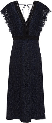 Sandro Emeline Corded Lace Midi Dress