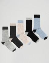 Asos Socks In Nepp 5 Pack
