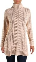 Vince Camuto Women's Long Sleeve Turtle Neck Mix Cable Tunic