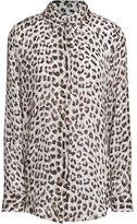 Equipment Essential Leopard-Print Silk Shirt