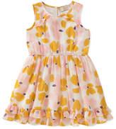 Kate Spade Ruffle-Hem Floral Sleeveless Dress, Size 2-6