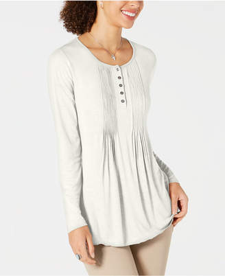 Style&Co. Style & Co Petite Pintuck Top