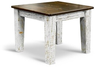 Elgin Millwood Pines Bar Height Dining Table Millwood Pines Base Color / Top Color: White-Washed / Ebony