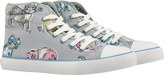 Cath Kidston Cats Quilted Hightop Plimsolls
