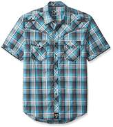 Wrangler Men's Rock 47 Short Sleeve Plaid Shirt
