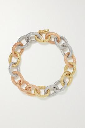 Carolina Bucci Florentine 18-karat Yellow, Rose And White Gold Bracelet - one size