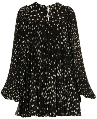 Stella McCartney Scattered Polka Dot Babydoll Dress