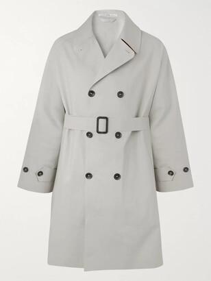Connolly - Goodwood Cotton-Gabardine Trench Coat - Men - Gray