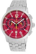 Roberto Bianci Men's 7096m_red Pro Racing Analog Display Analog Quartz Silver Watch