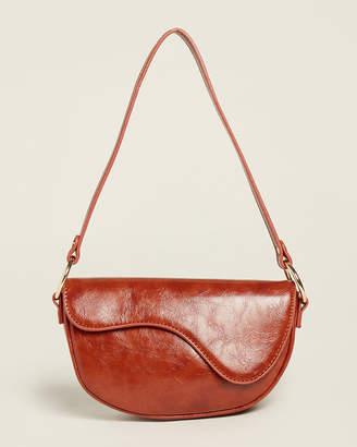 Street Level Brown Flap Shoulder Bag
