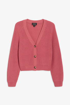 Monki Ribbed cardigan