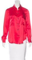 L'Agence Silk Button-Up Top w/ Tags
