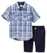 Joe's Jeans 2-Piece Woven Shirt & Short Set (Toddler Boys)