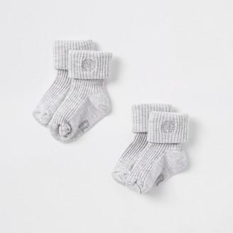River Island Baby grey RI socks multipack