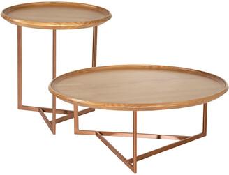 Manhattan Comfort Set Of 2 Knickerbocker Accent Table