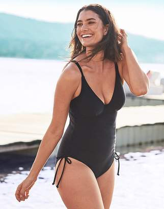 Figleaves Rene Underwired Non Padded Shaping Black Swimsuit D-GG cup
