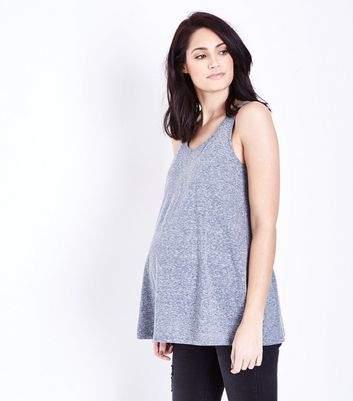 New Look Maternity Grey Marl Swing Vest Top