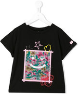 Armani Junior printed T-shirt - kids - Polyester/Spandex/Elastane/Modal - 5 yrs