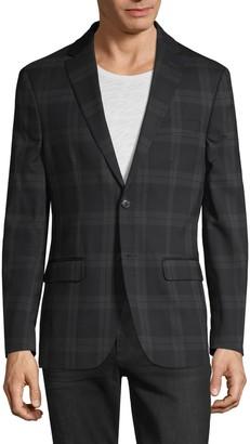 Tommy Hilfiger Tartan-Print Wool-Blend Sportcoat