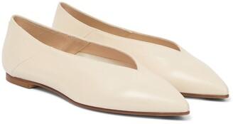 AEYDĒ Moa leather ballet flats