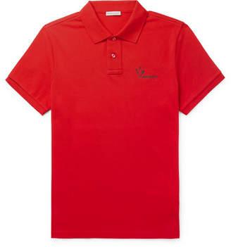 Moncler Slim-Fit Cotton-Pique Polo Shirt