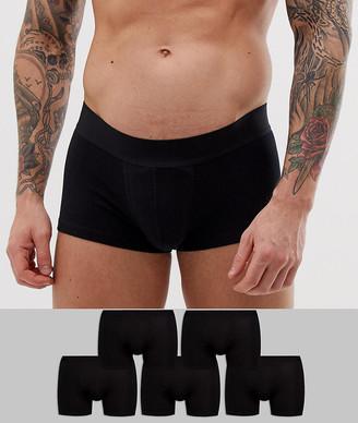 Trunks Asos Design ASOS DESIGN 5 pack short in black in organic cotton save